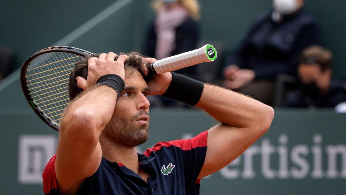 Pablo Andujar ist fassungslos nach seinem Sieg gegen Roger Federer