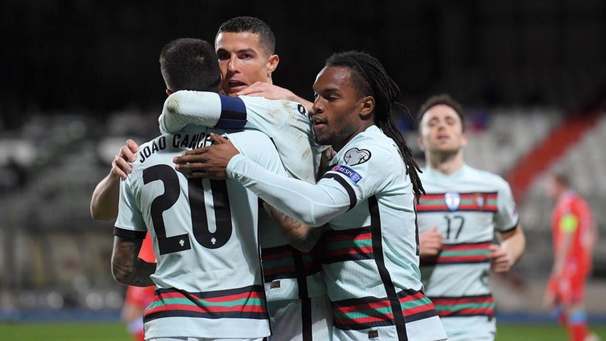 Cristiano Ronaldo esulta per un gol in Lussemburgo-Portogallo - Qualificazioni Mondiali Qatar 2022 - Getty Images
