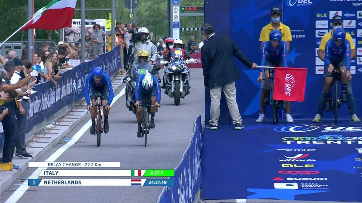 EK wielrennen | Brons voor Nederland op gemengde ploegentijdrit