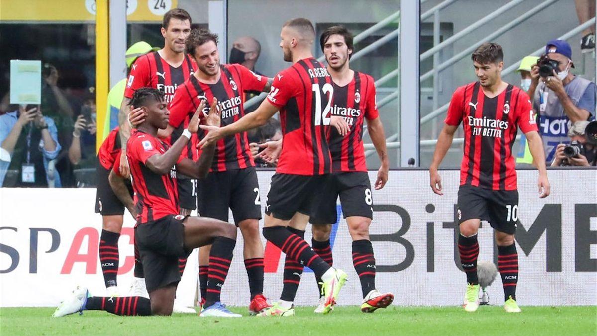 Leao esulta per il gol in Milan-Lazio - Serie A 2021/2022