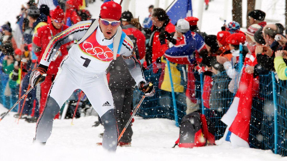Olympia - Michael Greis auf dem Weg zu Gold im Massenstart in Turin 2006