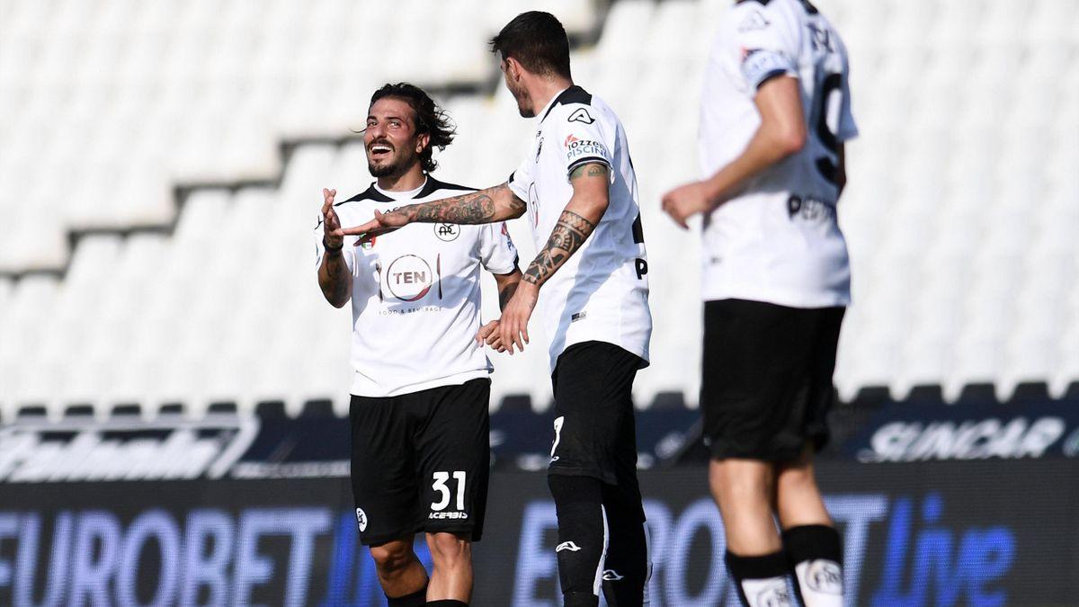 Daniele Verde esulta - Spezia-Fiorentina Serie A 2020-21