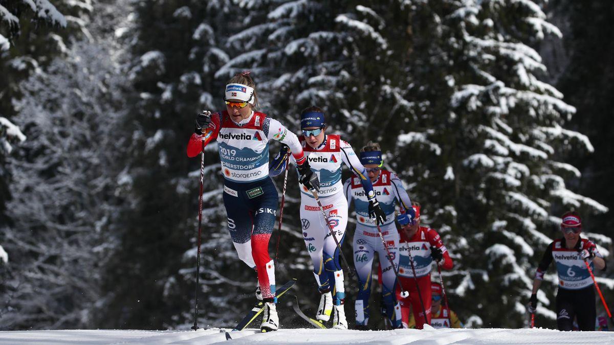 Тереза Йохауг (Норвегия), Эбба Андерссон (Швеция), марафон на 30 км, ЧМ-2021