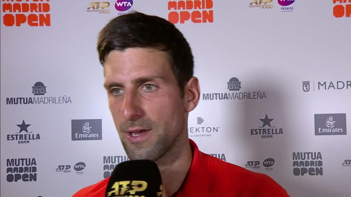 ATP Madrid - Novak Djokovic Interview after defeted Thiem (FR)