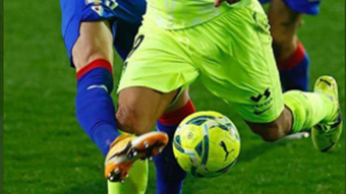 Luis Suárez, penalti de Arbilla - Foto: Twitter @atleti