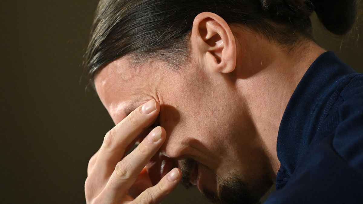 Zlatan breaks down in tears during Sweden press conference