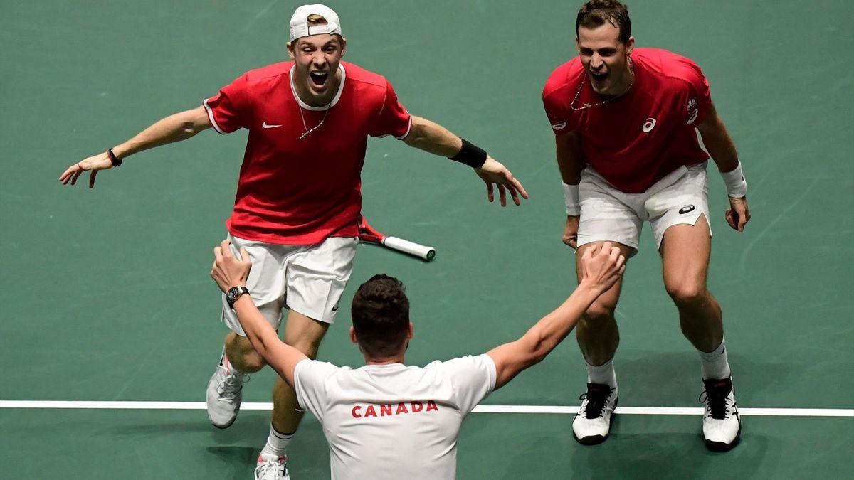 Jubel beim kanadischen Davis-Cup-Team