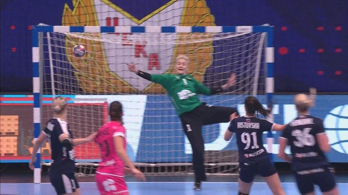 Handball Wmen's Champions League: Nice goal Brest by Djurdjina Jaukovic against CSKA