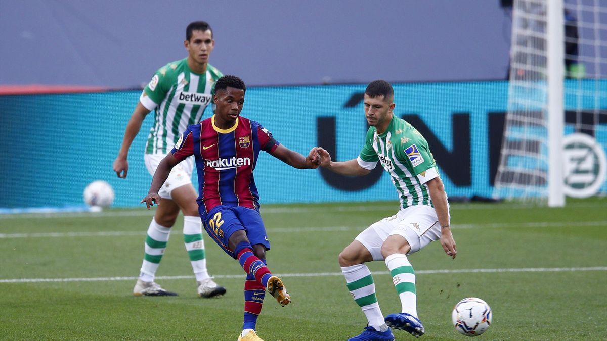 Ansu Fati lors de FC Barcelone - Betis en Liga