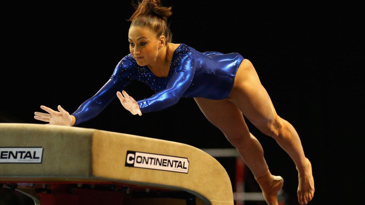 Lisa Mason competes at the British Championships in 2013