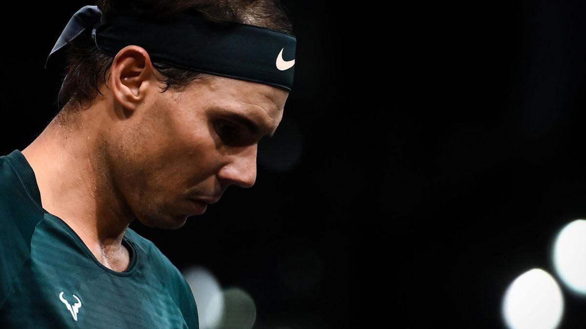 Lo scoramento di Rafa Nadal, Tennis Masters 1000 Parigi, Getty Images