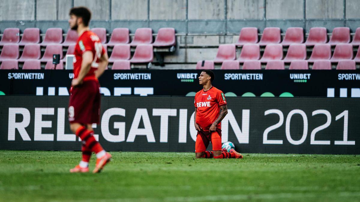 Der 1. FC Köln steht nach der Niederlage im Relegations-Hinspiel mit dem Rücken zur Wand