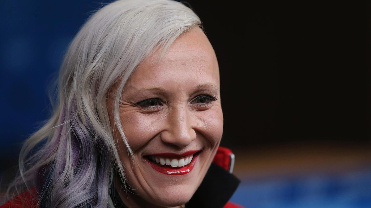 Bobsledder Kaillie Humphries during a Canadian team press conference at the Main Press Centre