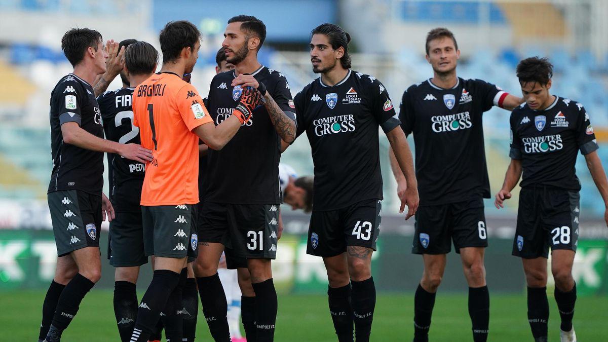 Pescara-Empoli, 3a giornata Serie B 2020-2021: esultanza Empoli a fine partita, terminata 1-2 (Getty IMages)