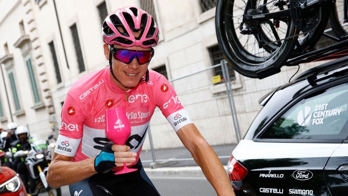 Chris Froome lors de la dernière étape du Giro - 2018
