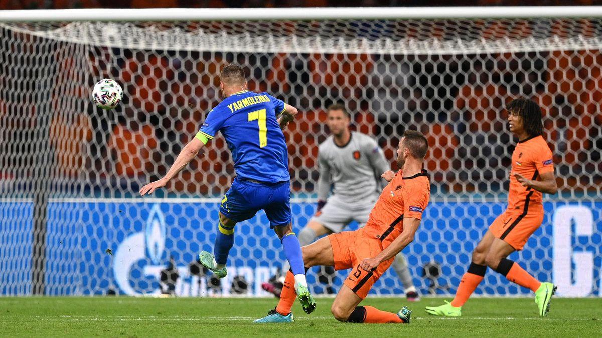 Андрей Ярмоленко забил мяч в ворота голландцев, Нидерланды – Украина, Евро-2020