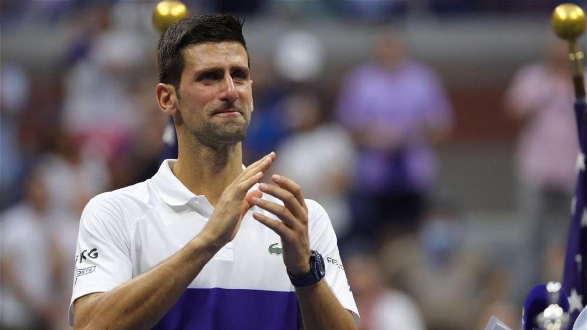 Novak Djokovic in lacrime - US Open 2021