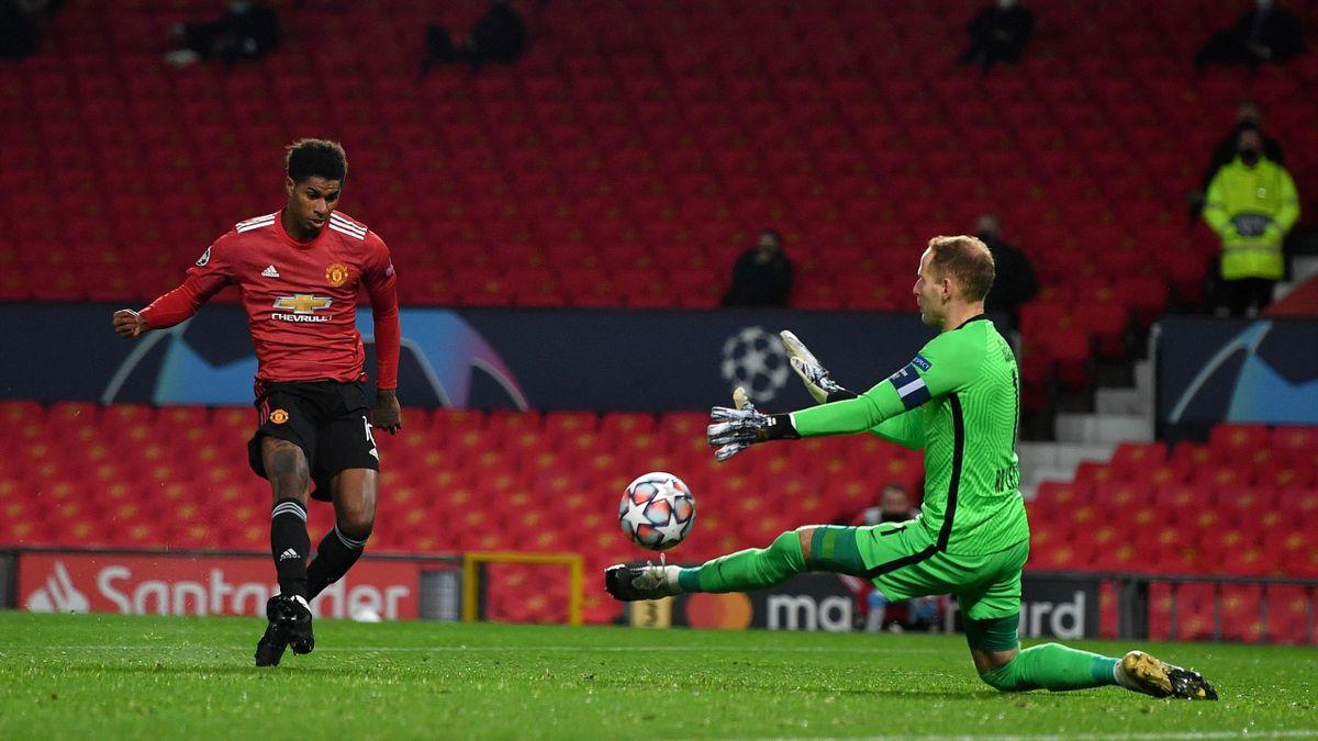 Marcus Rashford scores - Manchester United vs. RB Leipzig