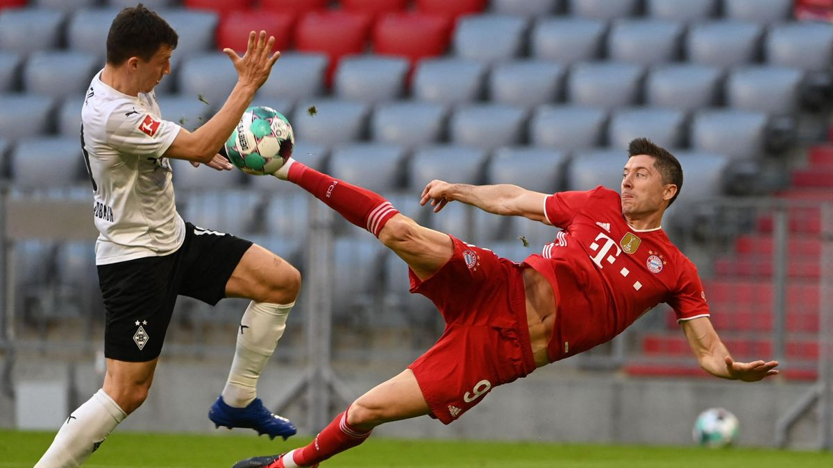Robert Lewandowski trifft - FC Bayern München vs. Borussia Mönchengladbach