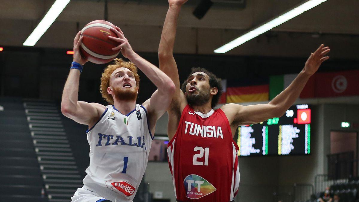 Nico Mannion, Italia-Tunisia, torneo di Amburgo 2021