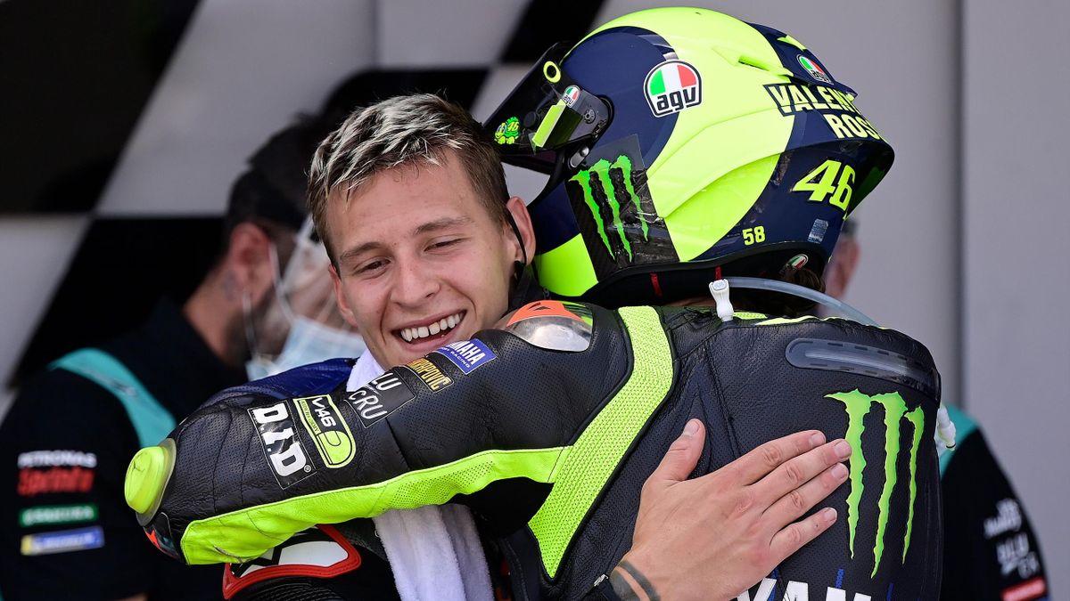 Fabio Quartararo et Valentino Rossi après le Grand Prix d'Andalousie 2020