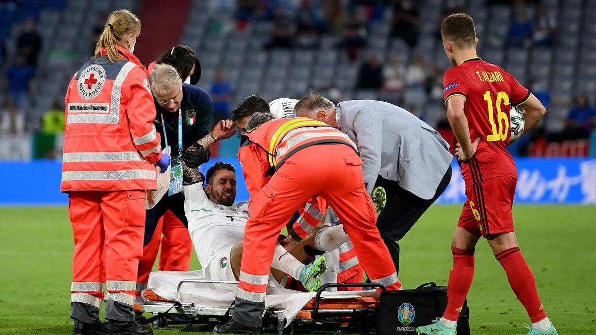 Belgio-Italia, Euro 2020: l'infortunio di Leonardo Spinazzola (Getty Images)