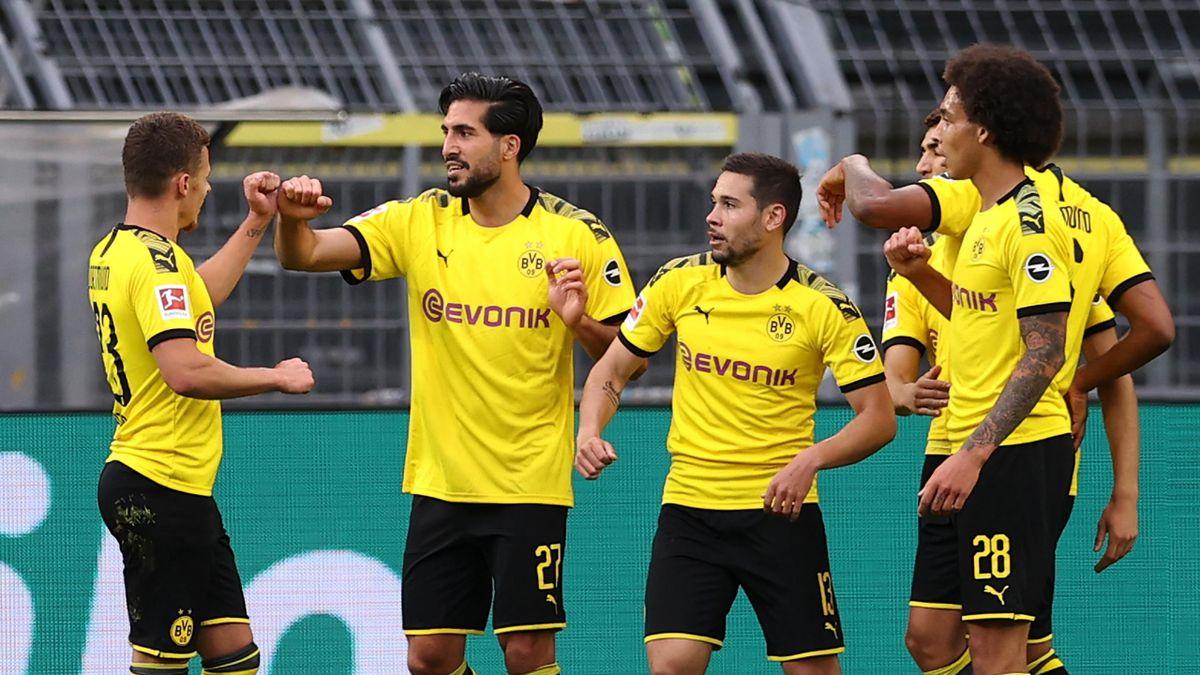 Emre Can buteur pour le Borussia Dortmund contre le Hertha en Bundesliga le 6 juin 2020