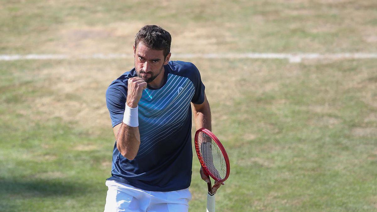 Marin Cilic lors du tournoi ATP 250 de Stuttgart 2021
