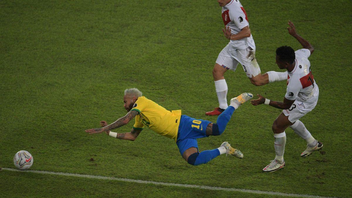 Neymar a tras încă o dată Brazilia după el, la Copa America