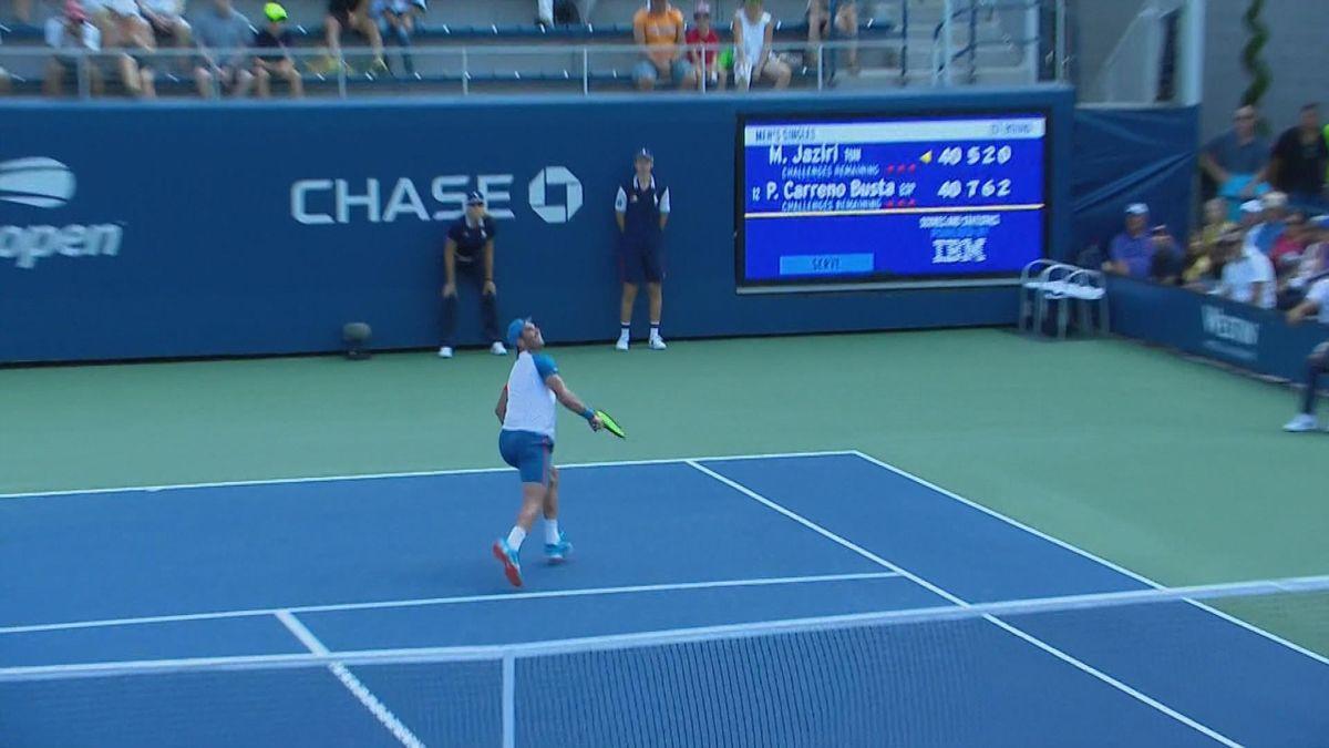US Open : Wonderful effect from Jaziri