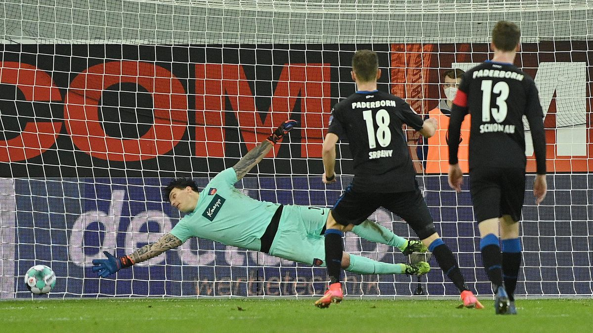 Dennis Srbeny (SC Paderborn) trifft gegen den 1. FC Heidenheim