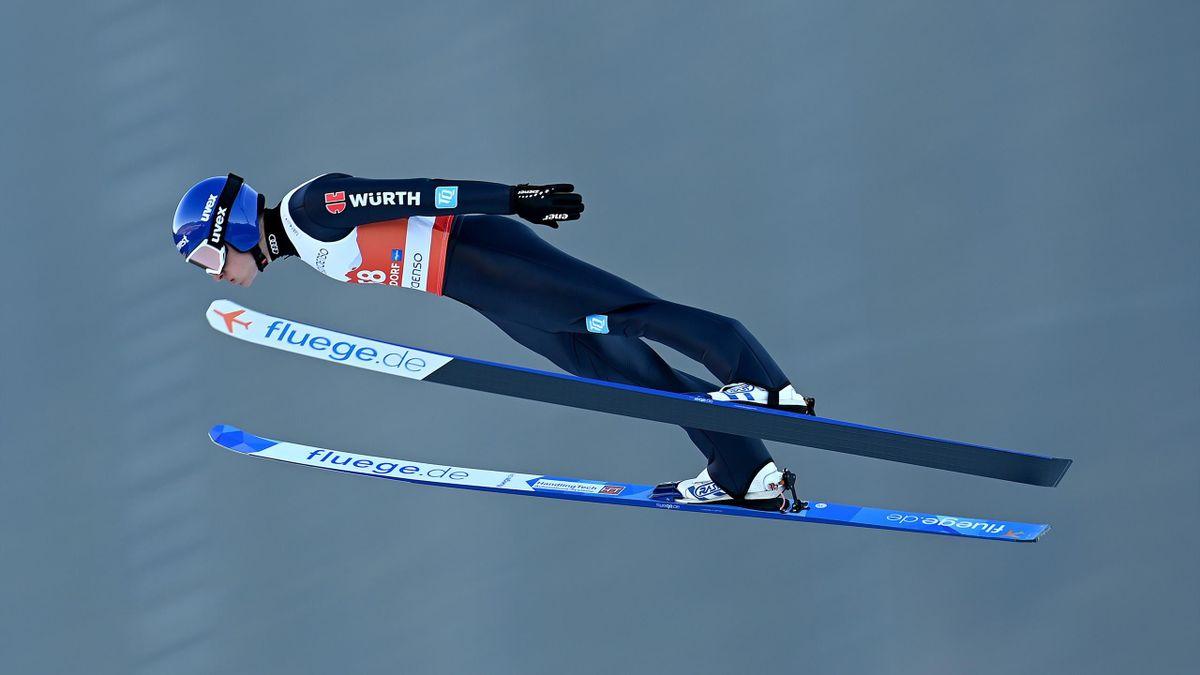 Kombinierer Manuel Faißt bei der Nordischen Ski-WM in Oberstdorf