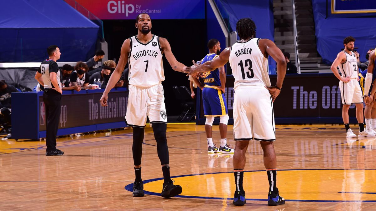 Kevin Durant y James Harden (Brooklyn Nets)