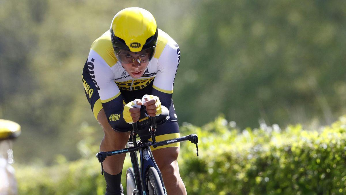 Slovenian cyclist Primoz Roglic of team LottoNL - Jumbo