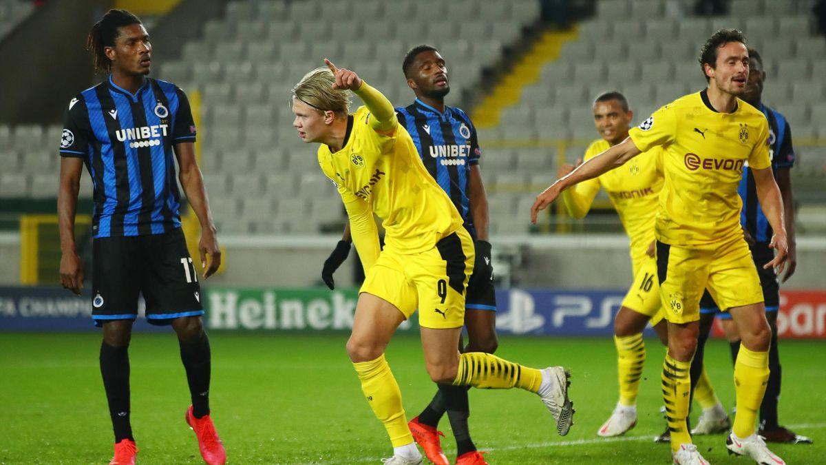 Erling Haaland of Borussia Dortmund celebrates