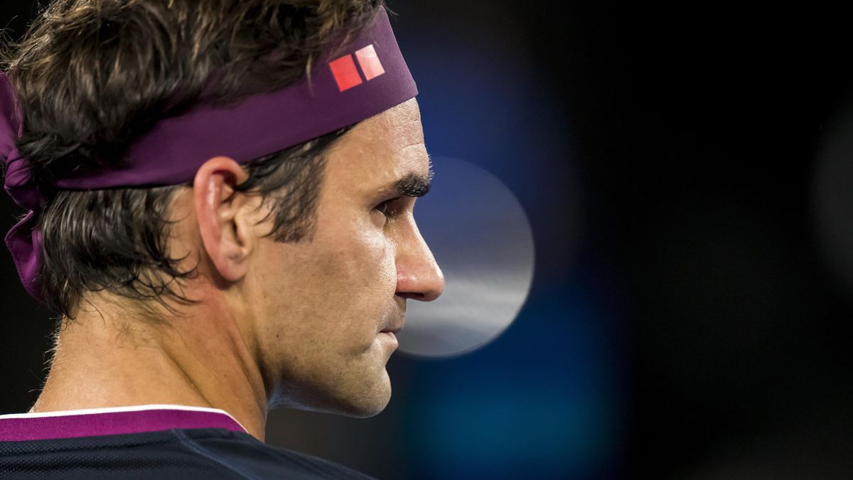 Roger Federer of Switzerland in action during the second round of the 2020 Australian Open on January 22 2020, at Melbourne Park in Melbourne, Australia