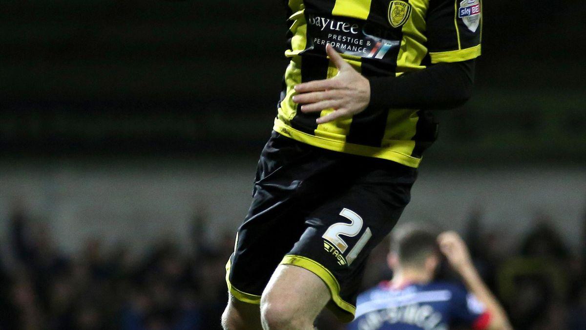 Burton Albion's Mark Duffy celebrates scoring