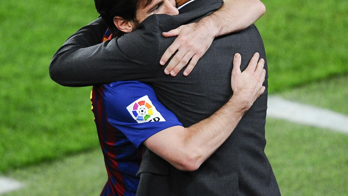 Pep Guardiola Leo Messi