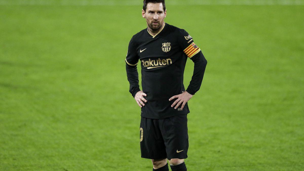 Messi durante el Cádiz-Barcelona