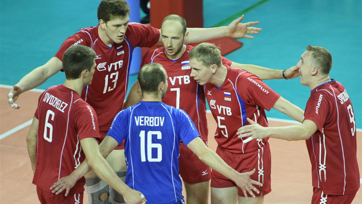 Russia vs Brazil. FIVB Volleyball World League