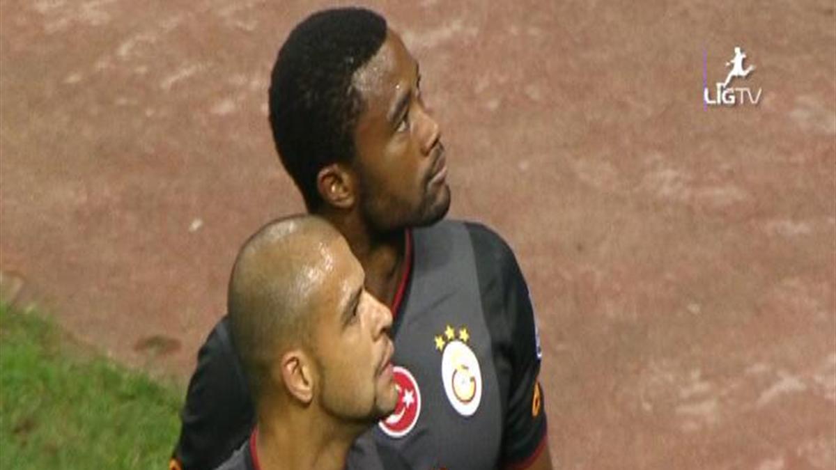 Chedjou ve Melo'nun gol sevinci
