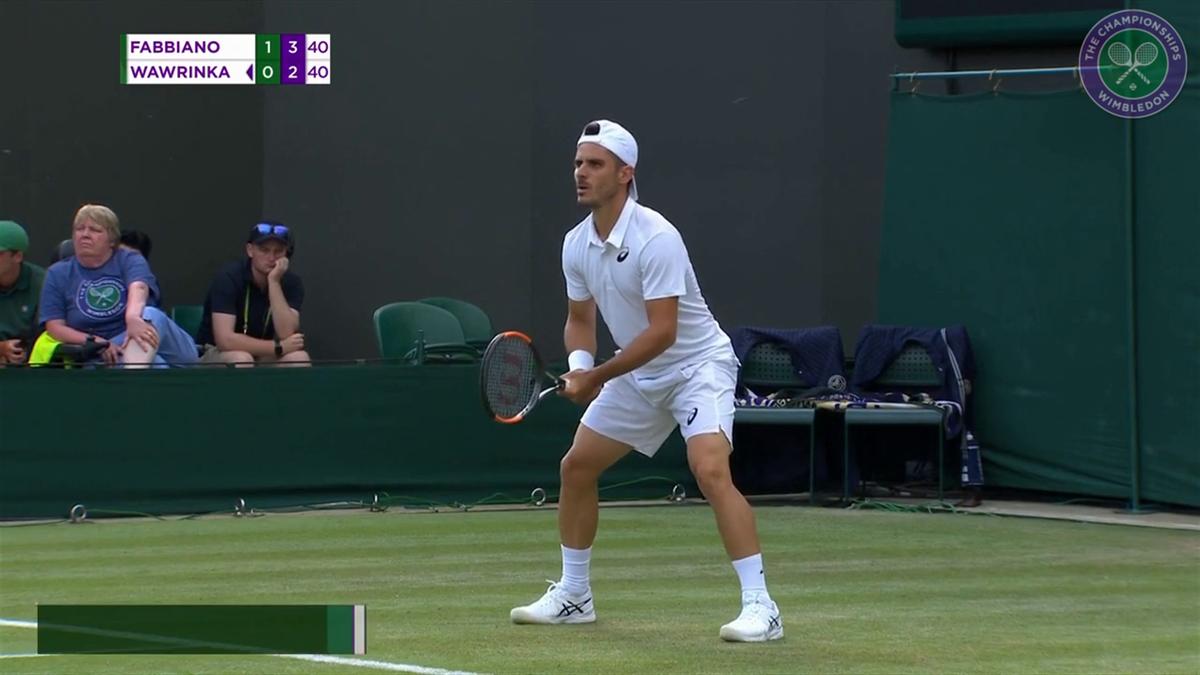 Wimbledon: Highlights Fabbiano VS  Wawrinka