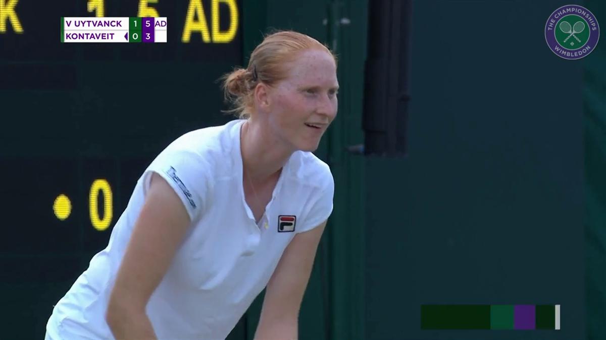 Wimbledon : Van Uytvanck Vs Kontaveit