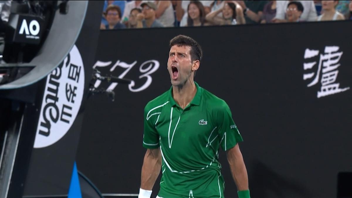 grito Djokovic
