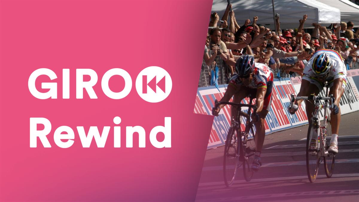 Mario Cipollini batte Robbie McEwen e diventa il corridore più vincente nella storia del Giro