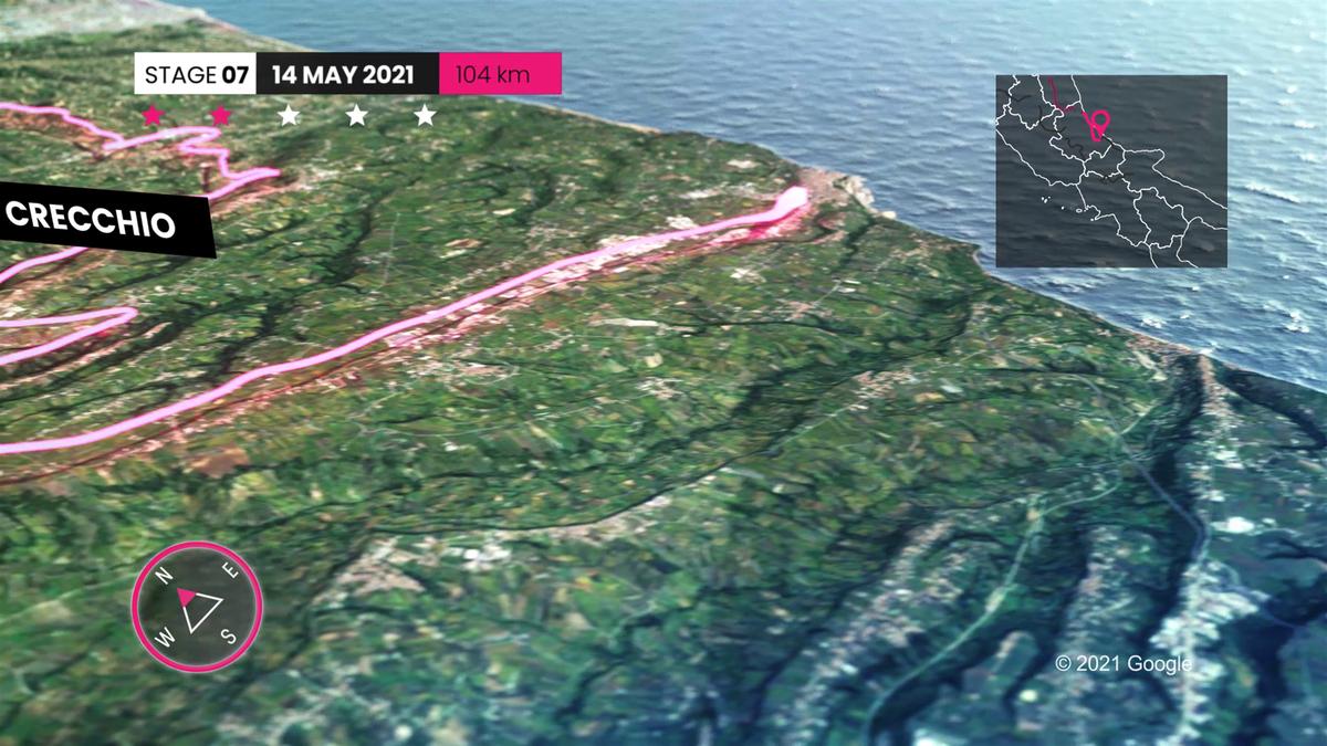 Giro d'Italia 2021   Profiel Etappe 7