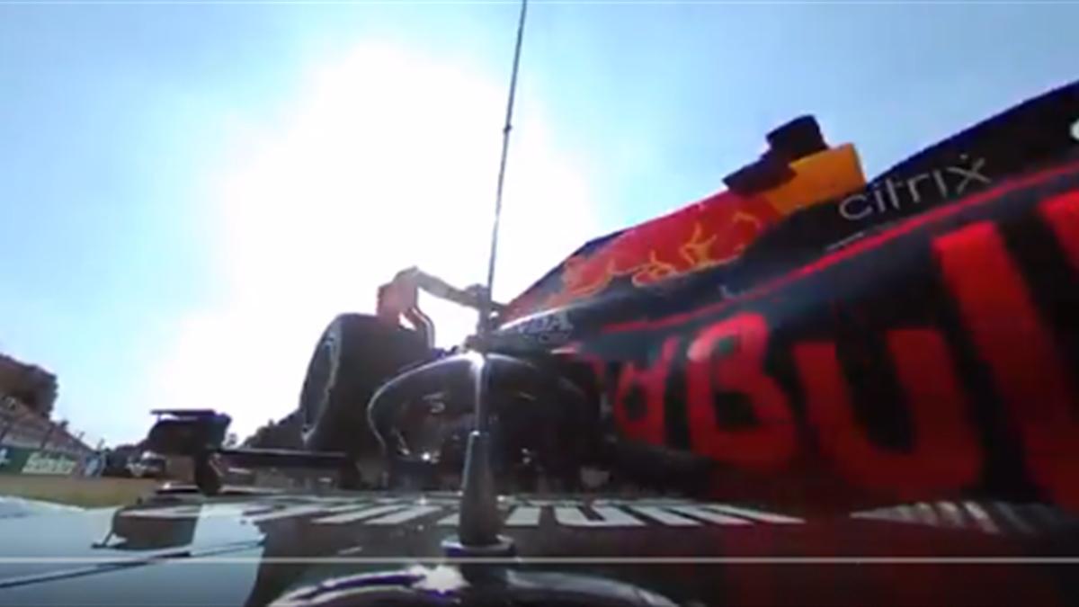 Toma 360º accidente Hamilton y Verstappen, GP de Monza
