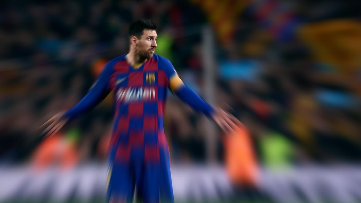 Lionel Messi flou