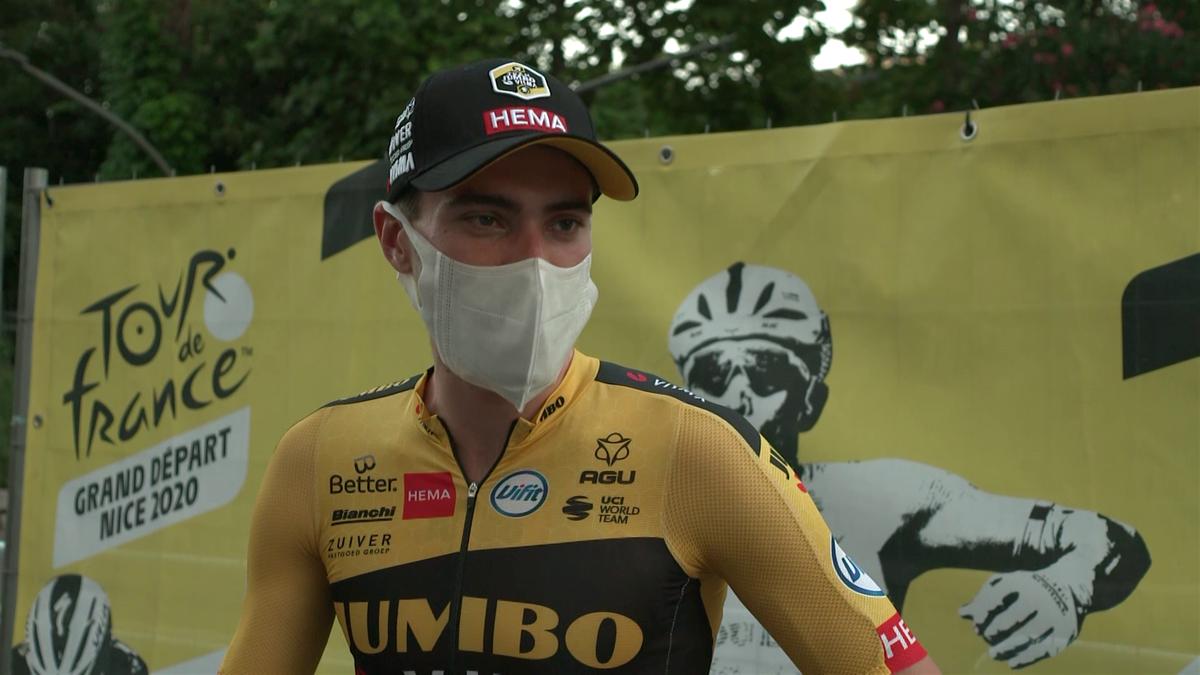 Tom Dumoulin, unul dintre liderii echipei Jumbo Visma în ediția din acest an a Turului Franței