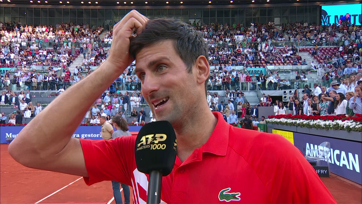 Atp Madrid - final - Interview Djokovic